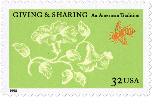 Giving and Sharing stamp